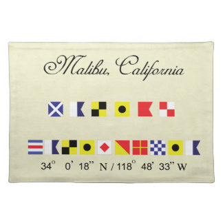 Malibu California Nautical Signal Flag Placemat