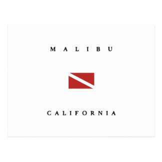 Malibu California Scuba Dive Flag Postcard