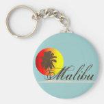 Malibu California Souvenir Basic Round Button Keychain