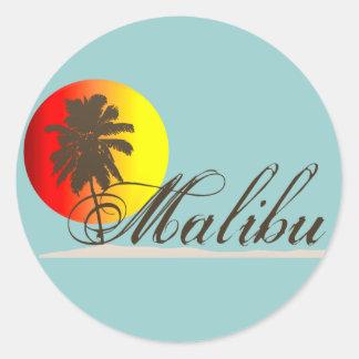 Malibu California Souvenir Classic Round Sticker