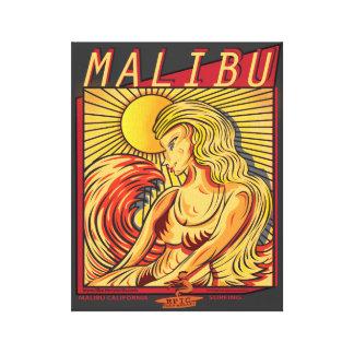MALIBU CALIFORNIA SURFRIDERS BEACH CANVAS PRINT