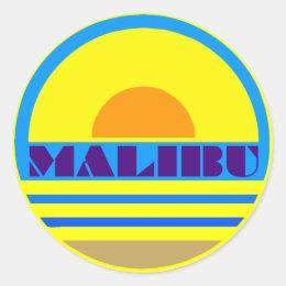 MALIBU CLASSIC ROUND STICKER