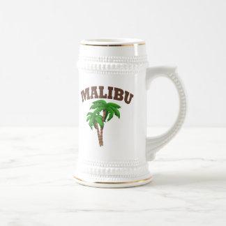 Malibu con la palmera tazas