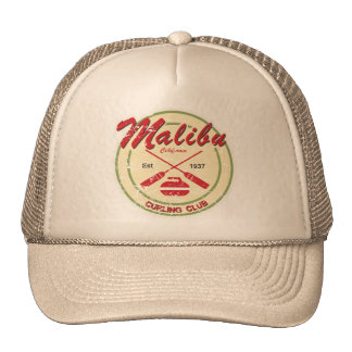 Malibu Curling Club distressed cap Trucker Hat