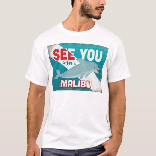 Malibu Dolphin - Retro Vintage Travel