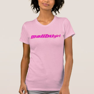 Malibu Girl Hot Pink Red Outline T-Shirt