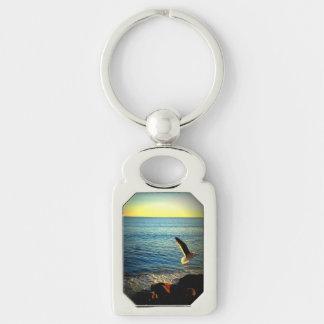 Malibu Pacific Ocean view Keychain
