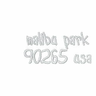 malibu park 90265 usa embroidered hooded sweatshirt