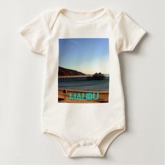 Malibu Pier and Surfrider Beach Photo, Malibu, CA Baby Bodysuit