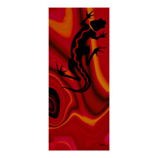 Malibu Salamander Print (fiery red)