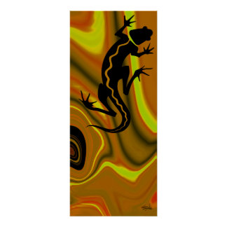 Malibu Salamander Print (mustard/yellow)