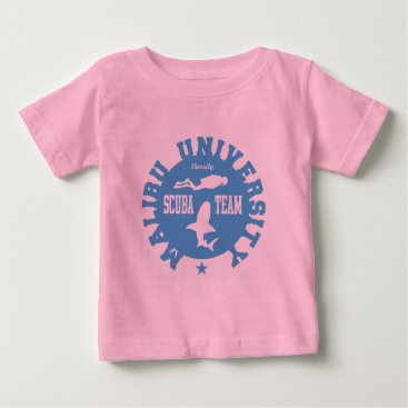Beach Themed Malibu Scuba Baby T-Shirt