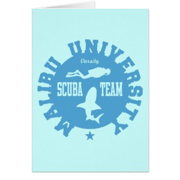 Beach Themed Malibu Scuba Card