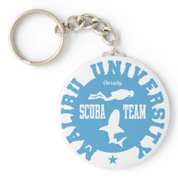 Beach Themed Malibu Scuba Keychain