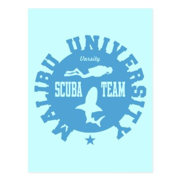 Beach Themed Malibu Scuba Postcard