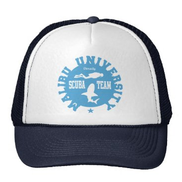 Beach Themed Malibu Scuba Trucker Hat