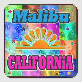 Malibu Sun & Palms Sticker