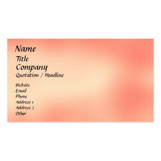 Malibu Sunset - business card template