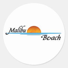 Malibu Sunset Classic Round Sticker
