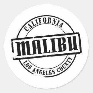 Malibu Title Classic Round Sticker