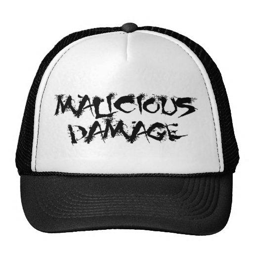 MALICIOUS DAMAGE Baseball cap Hat