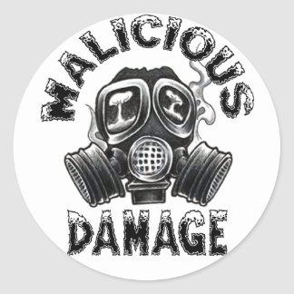 MALICIOUS DAMAGE GASMASK STICKER