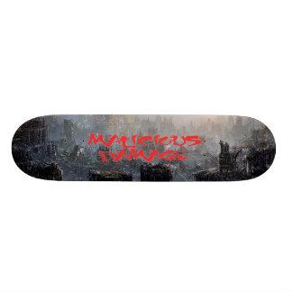 MALICIOUS DAMAGE RED LOGO SKATEBOARD
