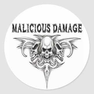 MALICIOUS DAMAGE STICKER