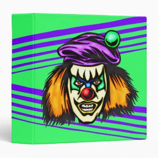 Malicious Evil Clown Vinyl Binders