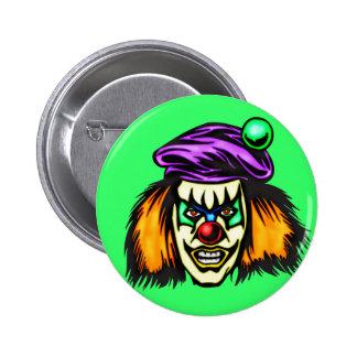 Malicious Evil Clown 2 Inch Round Button