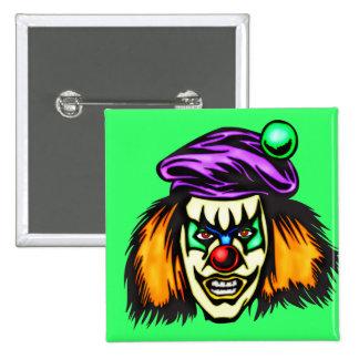Malicious Evil Clown 2 Inch Square Button