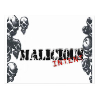 Malicious Intent Products Postcard