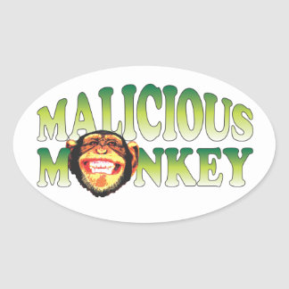 Malicious Monkey Oval Sticker