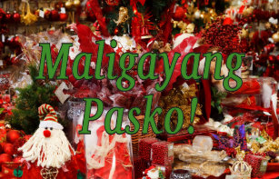 merry christmas in tagalog gf trifold wallet - Merry Christmas Tagalog