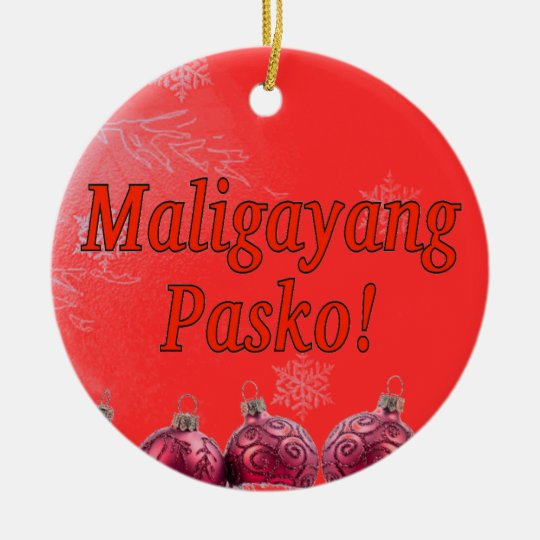 Maligayang pasko merry christmas in tagalog rf ceramic for Family code 7822