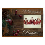 "Maligayang Pasko vintage ""red and brown"" Card"