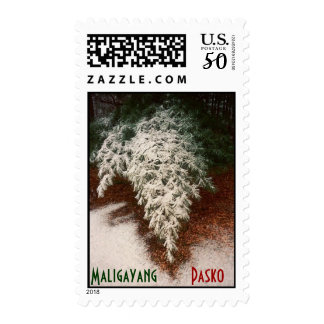 Maligayang Pasko with Pine Branch Postage