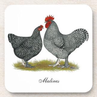 Maline Chickens Drink Coaster