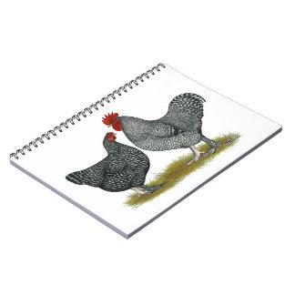 Maline Chickens Spiral Notebook