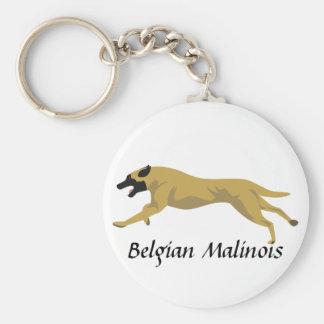 Malinois Basic Round Button Keychain