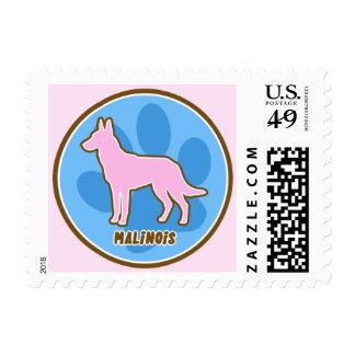 Malinois de moda sellos postales