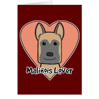 Malinois Lover Card
