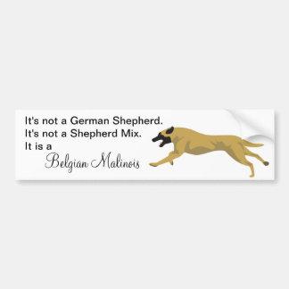 Malinois NOT German Shepherd Car Bumper Sticker