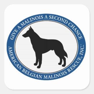 Malinois Rescue Logo, Square Sticker Square Sticker