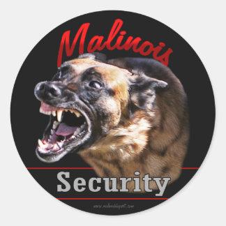 Malinois Security Sticker