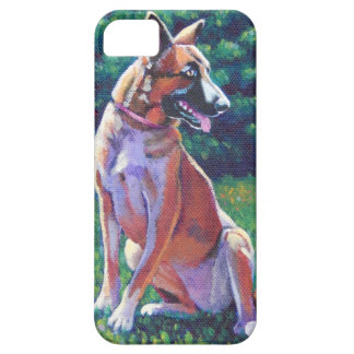 Malinois Shepherd in Grassy Field iPhone SE/5/5s Case