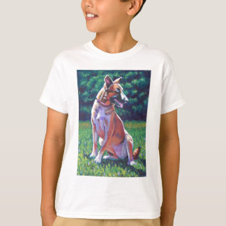 Malinois Shepherd in Grassy Field T-Shirt