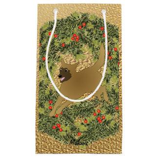 Malinois Wreath Small Gift Bag