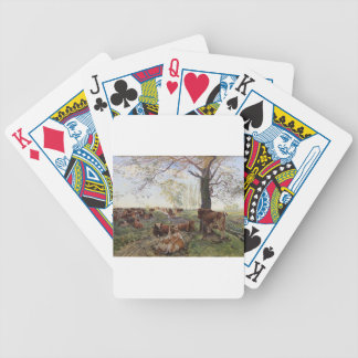 Malkeplads ved Dyrehavegård by Theodor Philipsen Bicycle Playing Cards