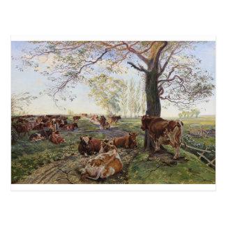 Malkeplads ved Dyrehavegård de Theodor Philipsen Tarjetas Postales